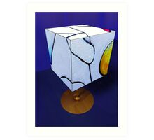 Primary Figures Cubed by Marilyn Brown Facilitated Art Print