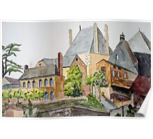 The French Watercolors:  Argenton-Chateau  Poster