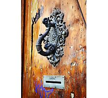 Door Knocker at Barri Gotic Photographic Print