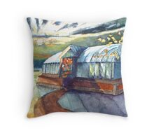 The French Watercolors: maison de jardin, St. Loup Throw Pillow