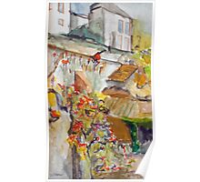 The French Watercolors:  ma maison en ville  Poster