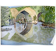 The French Watercolors:  Pont romain Un Poster