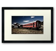 Train to Nowhere Framed Print