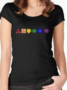 Gay Pride (Polyhedral Edition) Women's Fitted Scoop T-Shirt