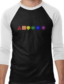 Gay Pride (Polyhedral Edition) Men's Baseball ¾ T-Shirt