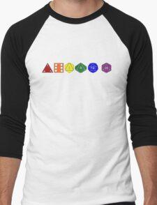 Gay Pride (Polyhedral Edition) Men's Baseball ¾ T-Shirt