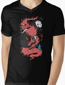Death Of The Fire Demon Mens V-Neck T-Shirt