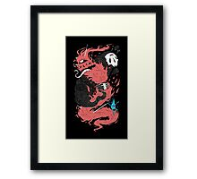 Death Of The Fire Demon Framed Print