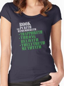 The Book Purist Remembers 4 Women's Fitted Scoop T-Shirt