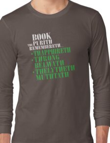The Book Purist Remembers 4 Long Sleeve T-Shirt