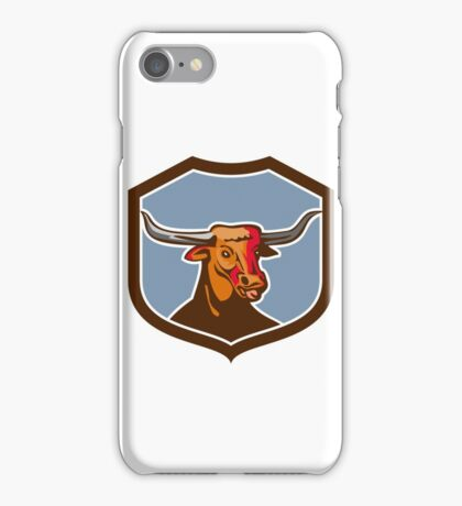 Texas Longhorn Red Bull Shield Retro iPhone Case/Skin
