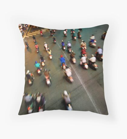 Evening Rush Throw Pillow