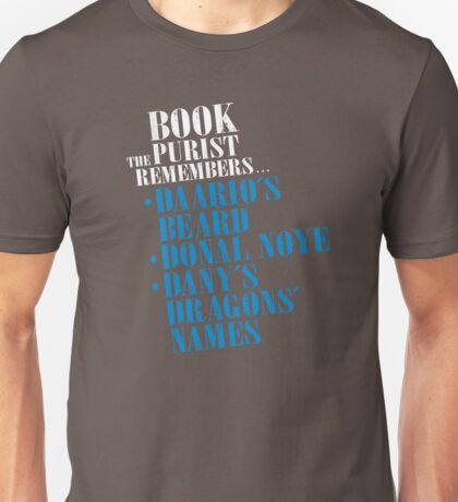 The Book Purist Remembers 3 Unisex T-Shirt
