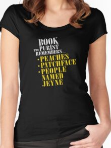 The Book Purist Remembers 1 Women's Fitted Scoop T-Shirt
