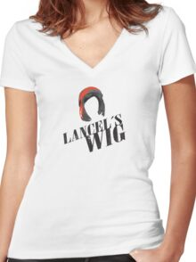 Lancel's Wig Women's Fitted V-Neck T-Shirt