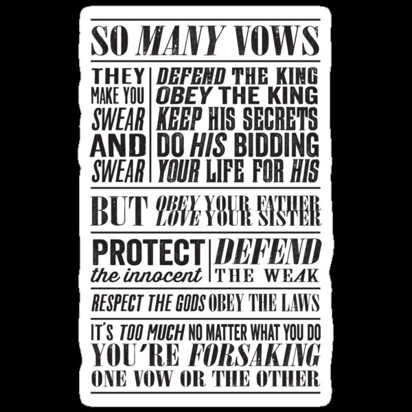 So Many Vows (Black) by JenSnow