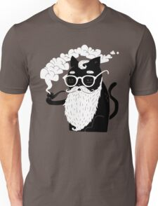 Whiskers And Pipe Unisex T-Shirt