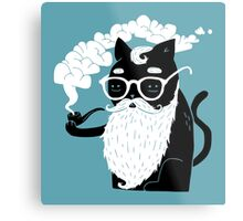 Whiskers And Pipe Metal Print