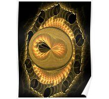 Ocean Creature Of Gold Poster
