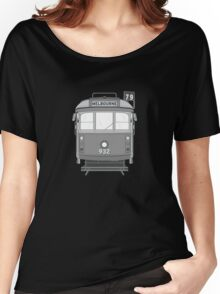 Melbourne Heritage Tram (B/W) Women's Relaxed Fit T-Shirt