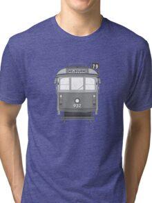 Melbourne Heritage Tram (B/W) Tri-blend T-Shirt