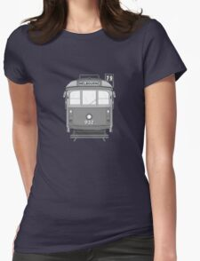 Melbourne Heritage Tram (B/W) Womens Fitted T-Shirt