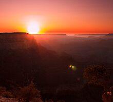 Yavapai Point, Grand Canyon Sunset by Ruby  Pen