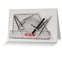 Mathematical Instruments Greeting Card