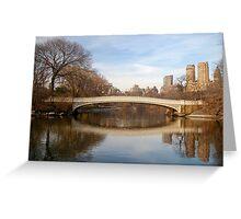 Bow Bridge Greeting Card