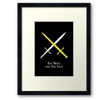 The Wolf and The Lion Framed Print