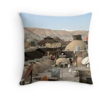 More old domes and news dishes Throw Pillow