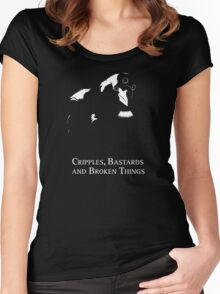 Cripples, Bastards, and Broken Things Women's Fitted Scoop T-Shirt
