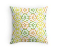 Citrus Pattern  - Orange, Lime, Lemon Throw Pillow