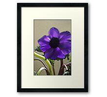 Purple Line Framed Print