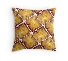 Buttered Toast Throw Pillow