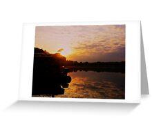 Dawn on Fish Lake Greeting Card