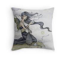 Tea With the Rabbit Spirit Throw Pillow