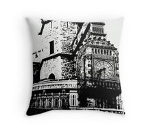 London Composite Pen and Ink Throw Pillow