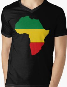 Green, Gold & Red Africa Flag Mens V-Neck T-Shirt