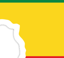 Green, Gold & Red Africa Flag Sticker
