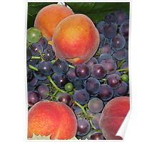 Peaches & Grapes Poster