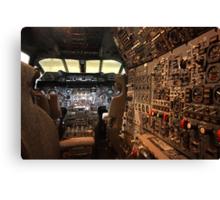 Concorde flight deck Canvas Print