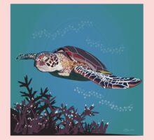 Green Sea Turtle One Piece - Long Sleeve