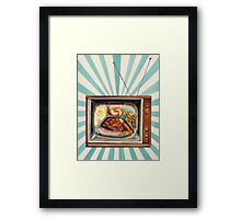TV Dinner Framed Print