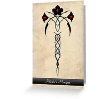 Phèdre's Marque Tribal Rose Design Greeting Card
