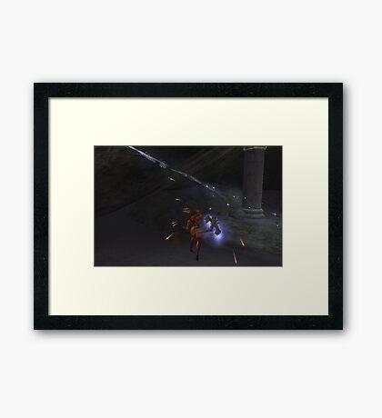 Lady Sheenah vs. The Nerva Spectral Daemon Framed Print
