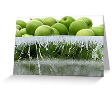 Frozen apples Greeting Card
