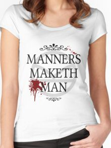 Manners Maketh Man Women's Fitted Scoop T-Shirt