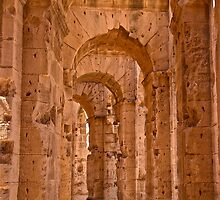 Inside the El Jem Amphitheater, Tunisia, North Africa by dhphotography