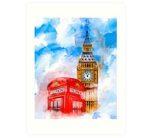 London Dreams - Big Ben & An Iconic Red Telephone Box Art Print